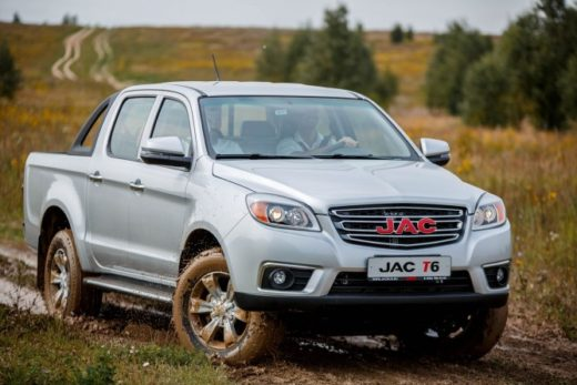 35461d4ea82e7c631e4fa1e3ea0e0667 520x347 - Новый пикап JAC T6 поступил в продажу в России