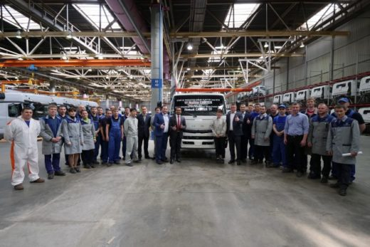 67ca04da11dbdc2171fb412c527fcd82 520x347 - «Даймлер КАМАЗ Рус» начал производство нового Canter TF