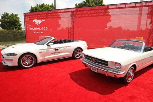 7dbca6a7b215fceeb834d136ed411ada 520x347 - Ford выпустил 10-миллионный спорткар Mustang