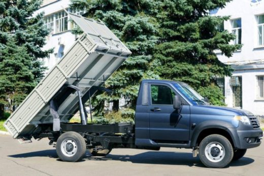 b754430ffe571344c7c48e63e0ae57f5 520x347 - УАЗ «Профи» получил модификацию с самосвальным кузовом