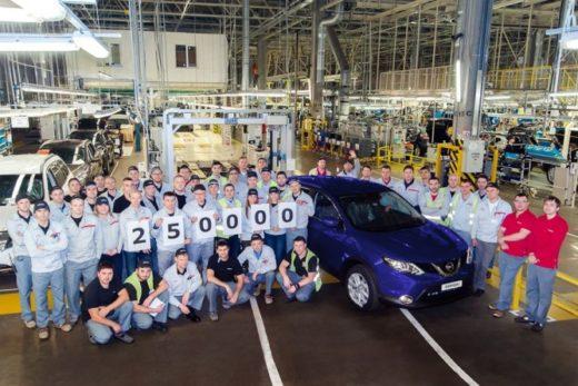 b8a3e373c5daa2ff3ce9b7fadcfdfef2 520x347 - Петербургский завод Nissan выпустил 250-тысячный автомобиль